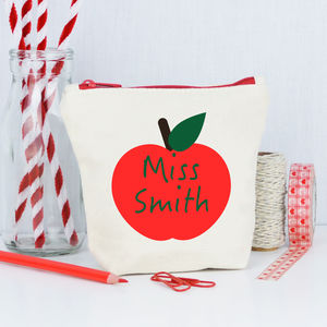 Personalised Apple Teacher Purse