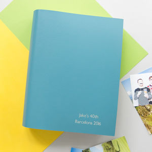 Personalised Leather Slip In Photo Album - photo albums