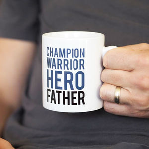 Champion Warrior Hero Father Mug Gift For Dads - dining room