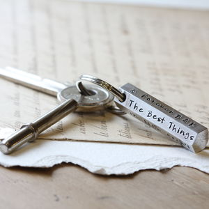 Personalised Hex Bar Keyring - summer sale
