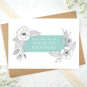Maid Of Honour Card - what's new