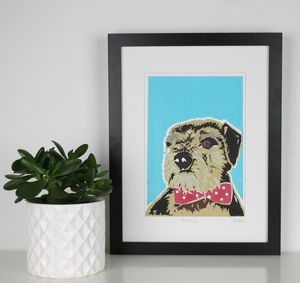 Personalised Dog Portrait Screen Print - posters & prints