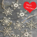 Pairs Of 12cm Snowflake Decorations
