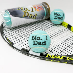Gifts For Dads 'Number One Dad' Tennis Balls