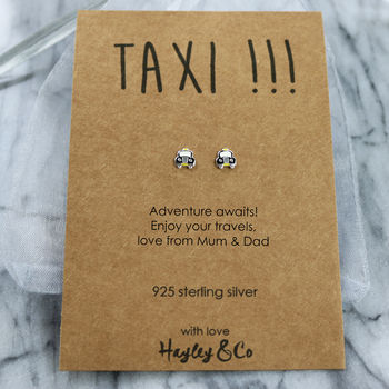 Taxi Sterling Silver Earrings