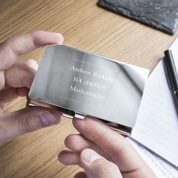 Graduation Name And Letters Business Card Holder