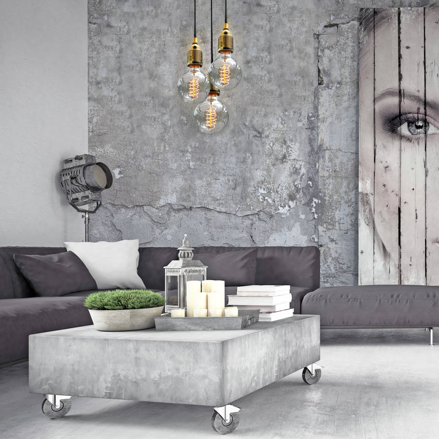 set of three bulb pendant lights by unique s co rh notonthehighstreet com