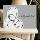 Daddy And Me Baby Cuddles 1st Father's Day Card A5