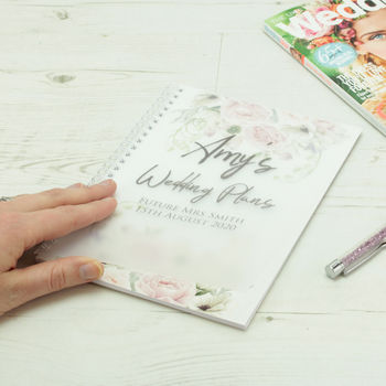 Personalised Floral A5 Frosted Wedding Planner