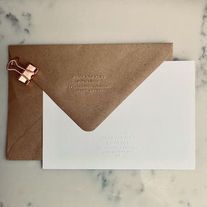 Classic Address Embosser Stamp - wedding planning ideas