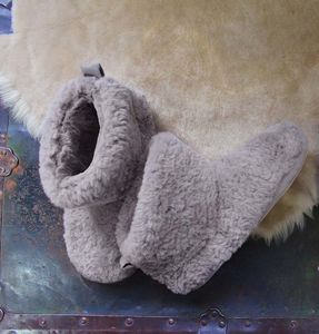 Grey Sheepy Slippers - women's fashion
