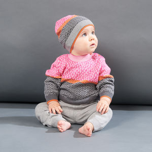 Obi Trees Knitted Baby Sweater - babies' jumpers