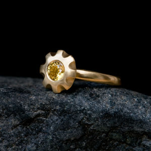Yellow Sapphire Engagement Ring - rings