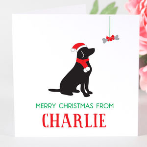 Personalised Labrador Dog Christmas Card - christmas card packs