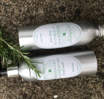 Love Rosemary: Organic Hand Wash And Bath Soak Duo