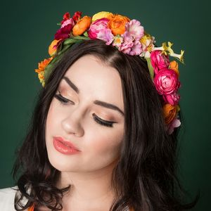 Make Your Own Floral Crown In A Choice Of Colours - hats & fascinators