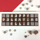 Happy Palentine Day Box Of Personalised Chocolates