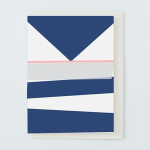 Navy And Grey Greetings Card