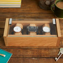Personalised Watch Box In Solid Oak