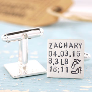 Personalised New Dad Cufflinks - cufflinks