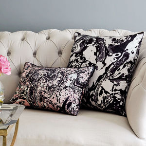 Marble Silk Square Cushion - patterned cushions