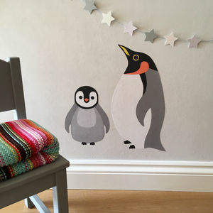 Penguin Wall Stickers - christmas wall stickers