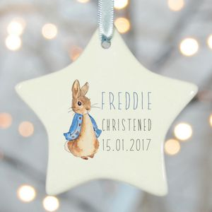 Christening Gifts Girls Boys Star Rabbit - keepsakes