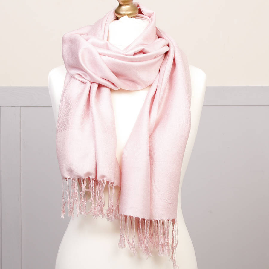 Personalised Baby Pink Pashmina Gift By Dibor