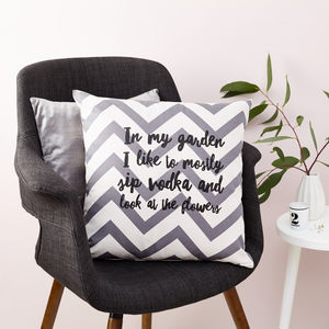 Personalised In My Garden Cushion - patterned cushions