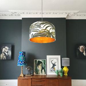 Palmeral Oversized Lampshade With Metallic Linings - new season lighting