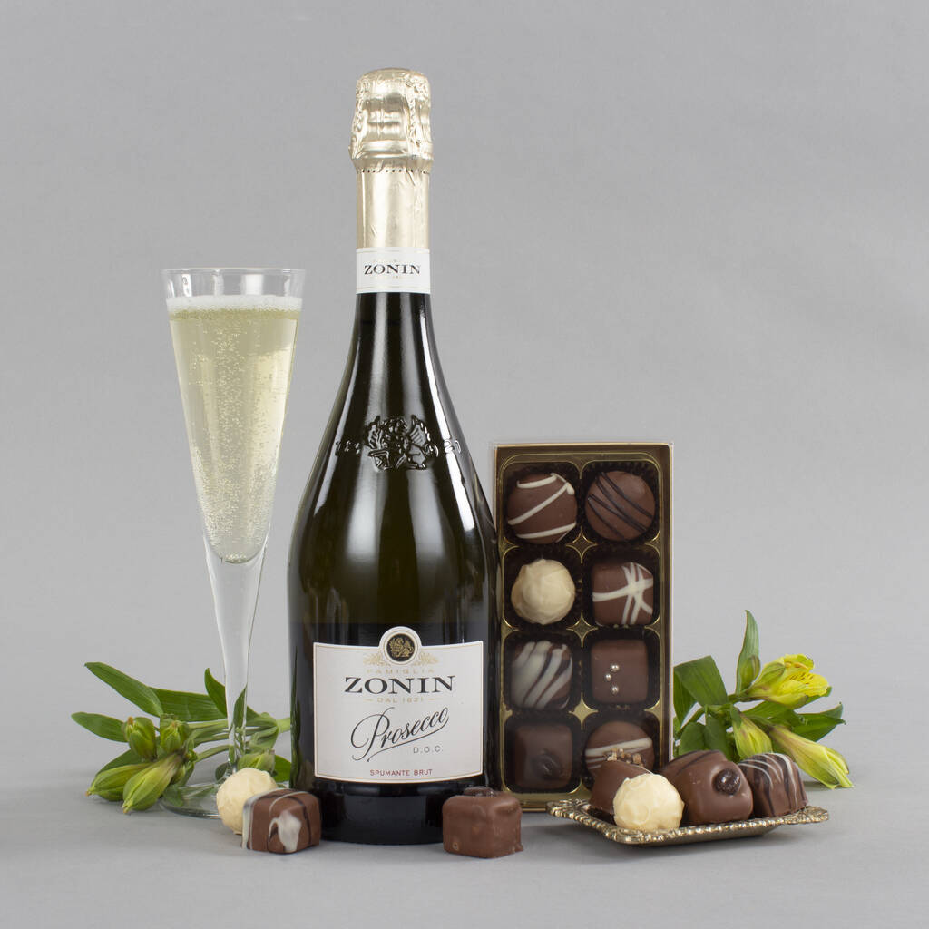 prosecco and chocolates gift set by virginia hayward ...