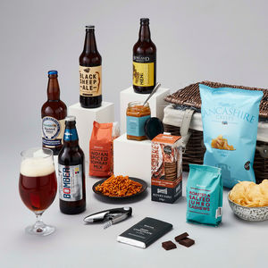 Gentleman's Beer And Bar Snacks Hamper - gifts for fathers