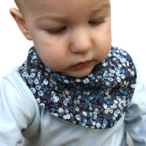 Unisex Liberty Dribble Bib Wiltshire Blue Berries - baby care