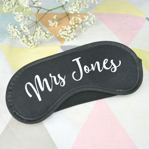 Personalised Mrs Sleep Mask - eye masks & neck pillows