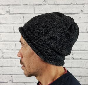 Eco Friendly Beanie Hat Greys