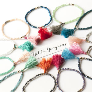 Tassel Crystal Bracelets In A Riot Of Colours