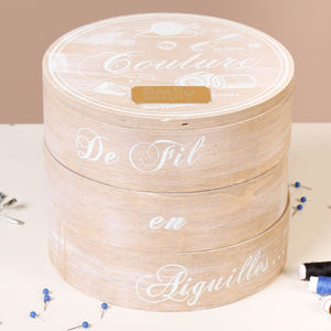 Personalised Haberdashery Couture Tiered Sewing Box