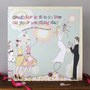 Daughter And Son In Law Wedding Card - wedding cards & wrap