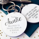 This Auntie Belongs To… Personalised Message Keyring