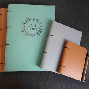 Personalised Leather Recipe Book