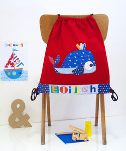 Childrens Whale Nursery Bag