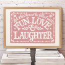 Fun Love And Laughter Home Print