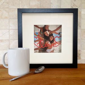 Personalised Hanging Message 3D Photo Frame - picture frames