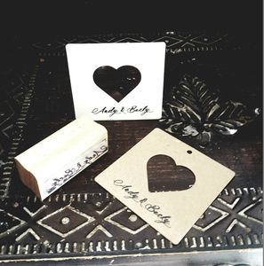 Free Text / Names Your Names Rubber Stamp - wedding favours