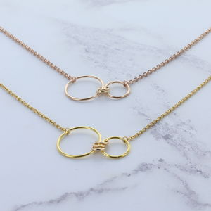 Infinity Family Ring Necklace Golds