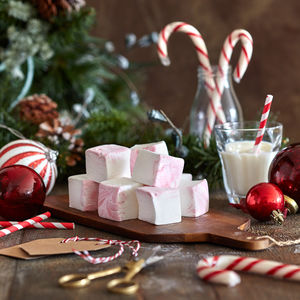 Candy Cane Gourmet Marshmallows - secret santa gifts