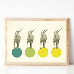Unicorn Parade Childrens Art Print