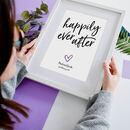 Personalised Happily Ever After Print