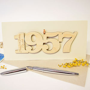 Personalised 60th Birthday 1957 Motif Card