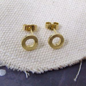 Gold Link Earrings - earrings